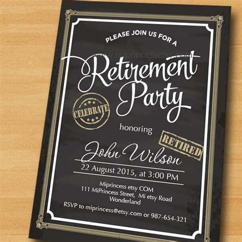 25 best ideas about retirement invitations on retirement invitations
