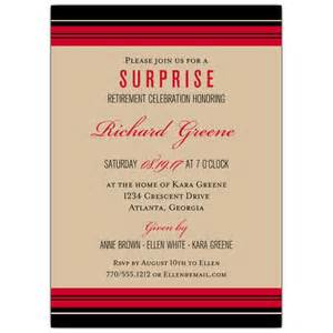 classic stripe retirement invitations paperstyle