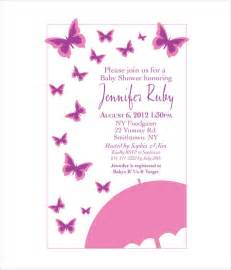 Baby Invitation Templates by Butterfly Invitation Templates 9 Free Psd Vector Ai