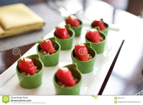 dessert canapes dessert strawberry canapes food stock photo image 82619117