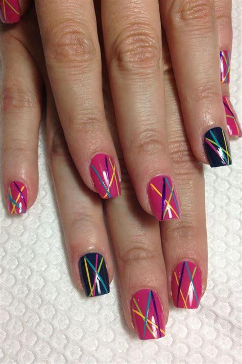 easy nail art on dailymotion rayas2 naglar pinterest naglar