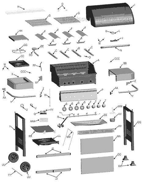 char broil parts diagram char broil 463211511 parts list and diagram