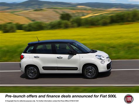 fiat 500 abarth finance deals new fiat 500l pre launch offers and finance deals