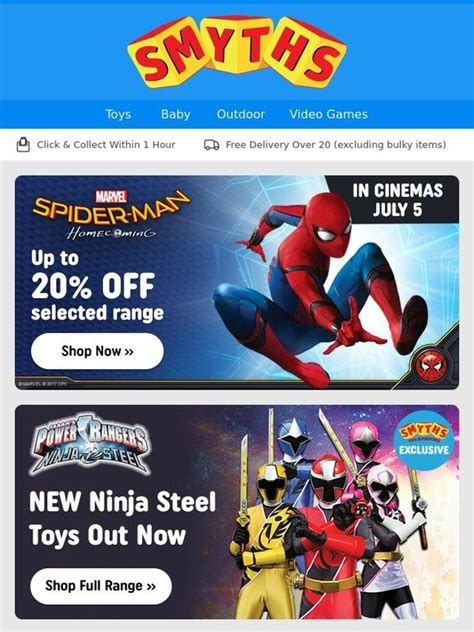 up film toys smyths toys hq up to 20 off select spider man