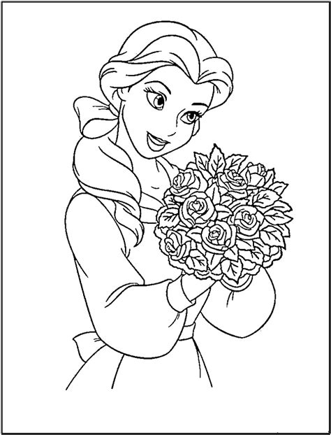Free And Printable Coloring Pages Disney Princess Coloring Pages Free To Print