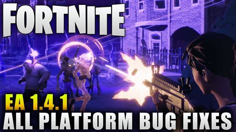 will fortnite be split screen fortnite news quot early access patch 1 4 1 quot more bug fixes
