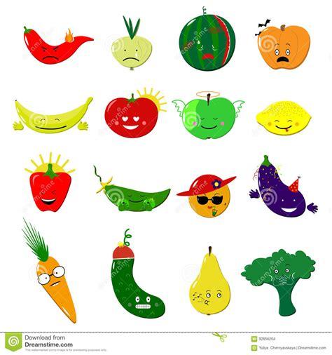 vegetables emoji emoticons food vector set stickers emoji
