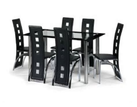 Dining Tables 6 Chairs Stylish Square Glass Top Modern Dining Table With Chrome Base Also 6 Modern High Back Modern
