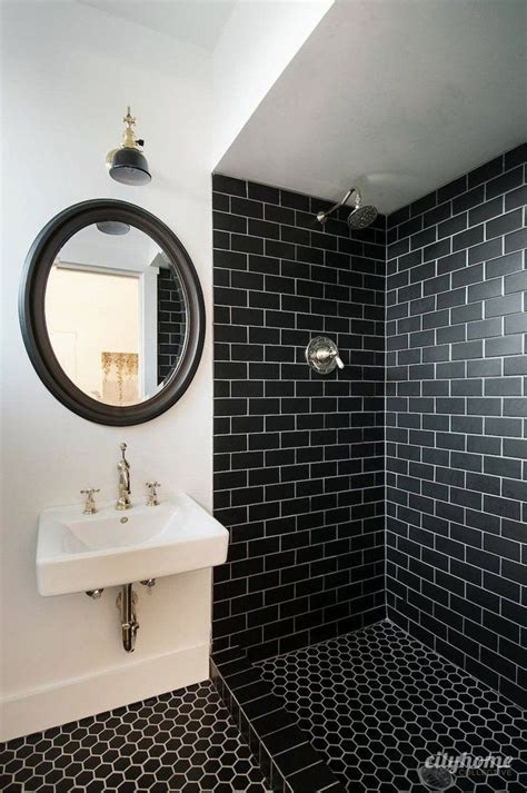 Best 25 black subway tiles ideas on pinterest black tile bathrooms shower tile patterns and