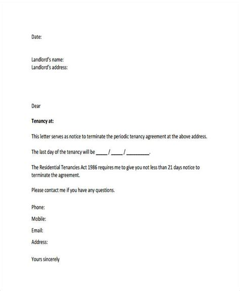 contract termination letter template nz 53 termination letter exles