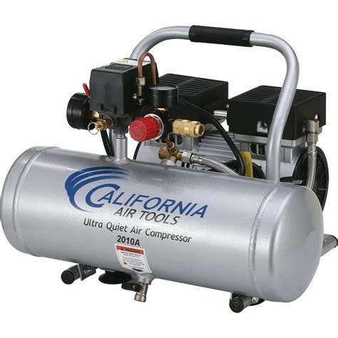 california air tools 2 0 gal 1 0 hp ultra and free aluminum tank air compressor 2010a