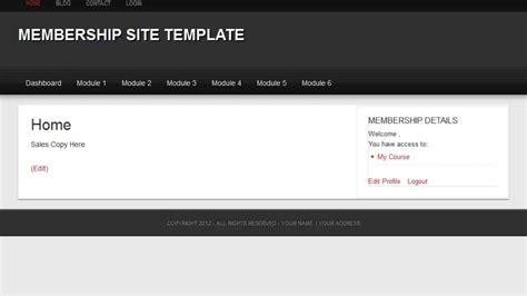 membership site template youtube