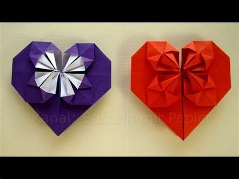 Bettdecke Zum Herz Falten by Origami Herz Falten Basteln Mit Papier Diy