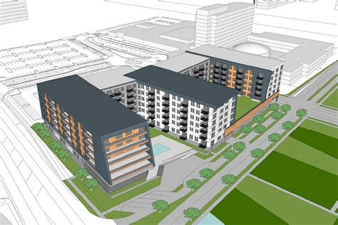 Apartments In Chicago Near Airport 299 Unit Apartment Plan Pitched For Parking Lot Near