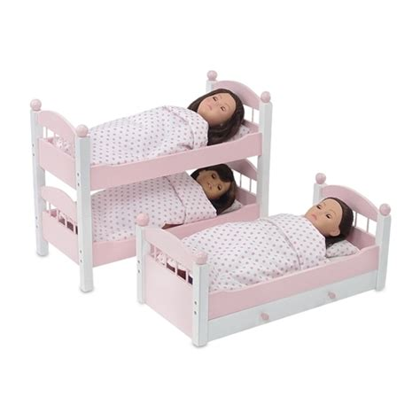 18 inch doll bunk beds 18 inch doll furniture pink stackable triple bunk bed