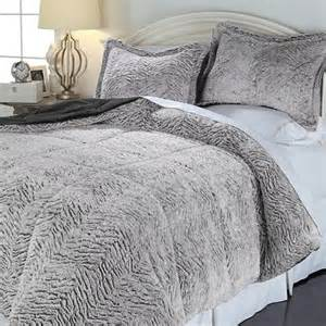 concierge collection soft cozy carved fur comforter set