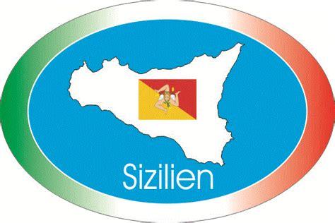 Kofferaufkleber Flaggen by Sticker Store24 Aufkleber Sizilien 1