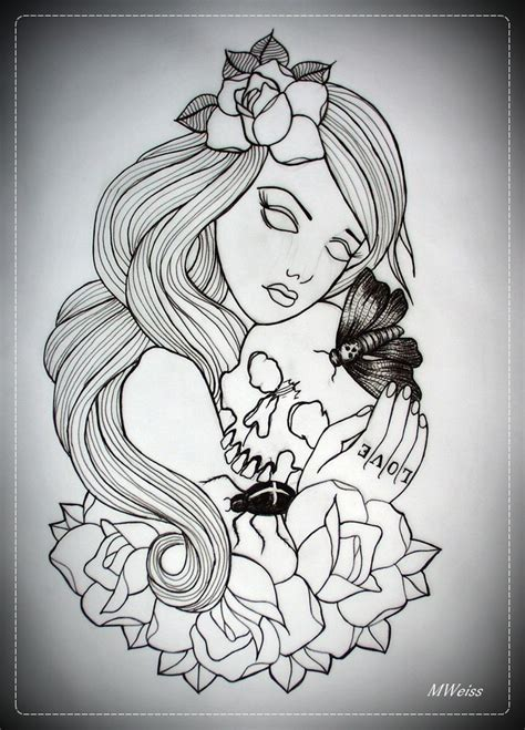 50 s pin up girl tattoos designs 1000 images about outline design on
