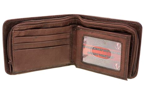 Cctv Walet mens bifold wallet security zipper money compartment