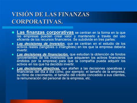 finanzas corporativas finanzas corporativas visi 243 n de las finanzas corporativas monografias com