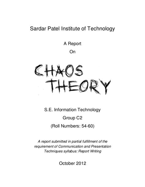 Theory An Introduction chaos theory an introduction
