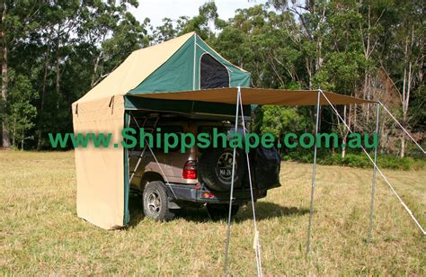 main tent and awning the shack shippshape roof top tents