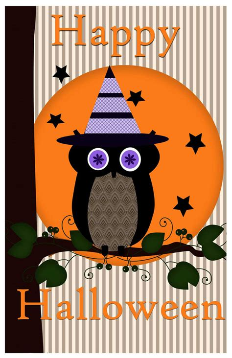 printable halloween owl halloween owl poster printable