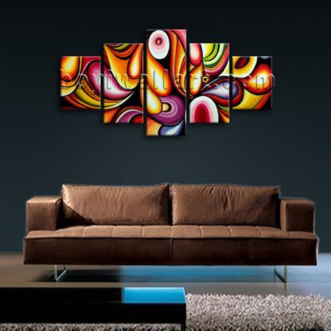 wall decoration paintings large colorful wall living room decoration ideas
