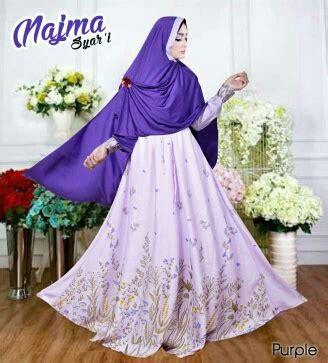 Gamis Cantik Purple baju gamis cantik bahan baloteli wa 0821 1223 5665
