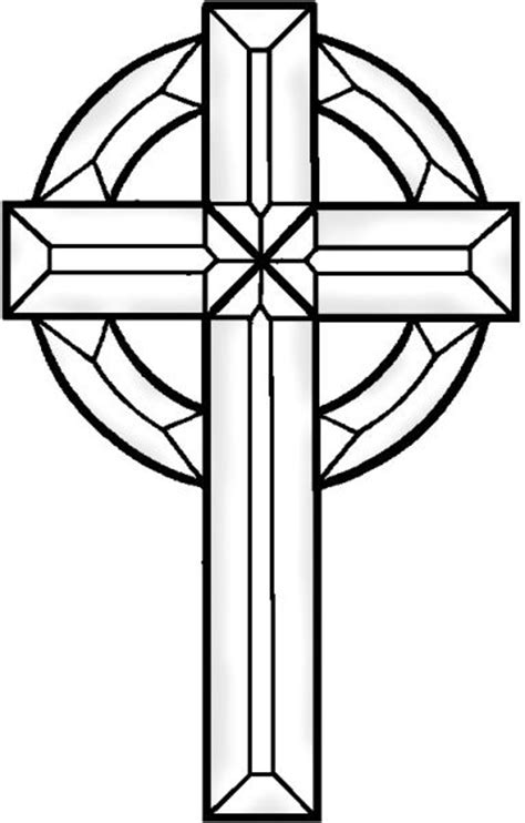 Stained Glass Cross Coloring Page free coloring pages of cross stained glass