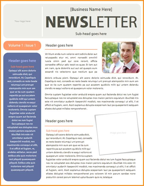 6 microsoft word newsletter template mac resume template