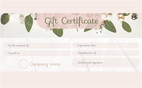 Adobe Mba Intern Salary by Gift Certificate Template Keynote Image Collections