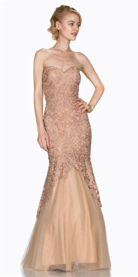 prom dress mermaid gold wedding dress lace up open back prom wedding dress inspiration strapless appliqued mermaid prom gown lace up back discountdressshop