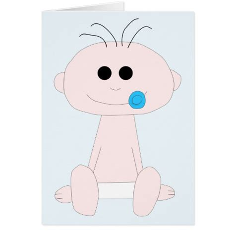 Baby Boy Card Template by Baby Boy Newborn Card Template Zazzle