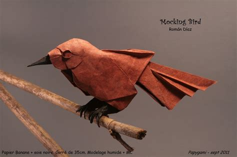 mockingbird origami 25 beautiful origami birds 21 is especially impressive