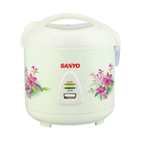 Sanoya Rice Cooker 1 Liter Pink sanyo floral 10 cup rice cooker for 220 volts