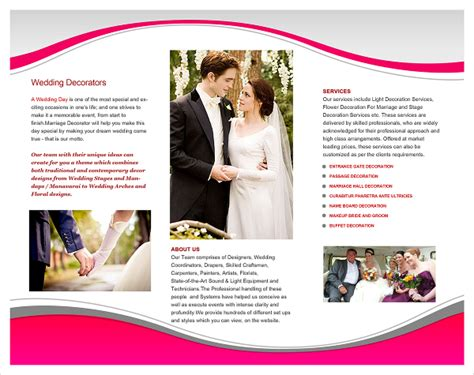 wedding brochures templates free 20 wedding planner brochure free psd ai eps format