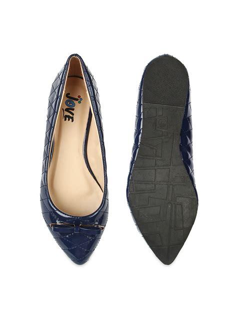 womens navy flat shoes myntra jove navy blue flat shoes 534682 buy myntra