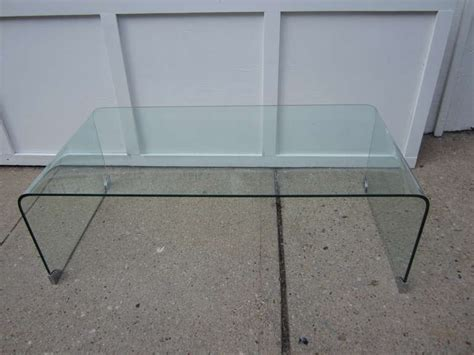 Glass Waterfall Coffee Table Modern Glass Waterfall Coffee Table At 1stdibs