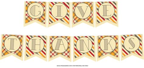 printable banner give thanks free thanksgiving party collection pizzazzerie