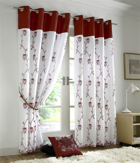 white ready made curtains uk tahiti floral lined eyelet voile curtains ready made