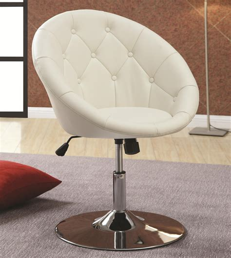 Buy Dining Chairs And Bar Stools Contemporary Round Tufted White Swivel Chairs