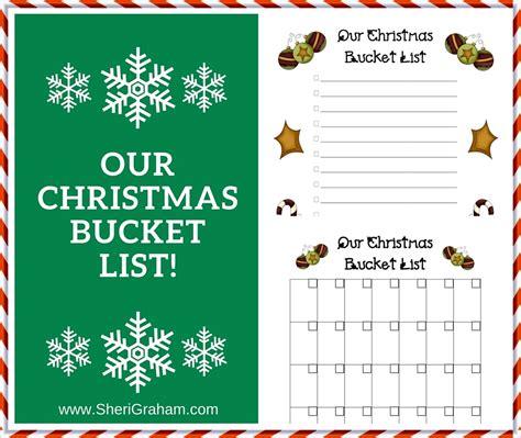printable christmas bucket list our christmas bucket list free printable sheri graham