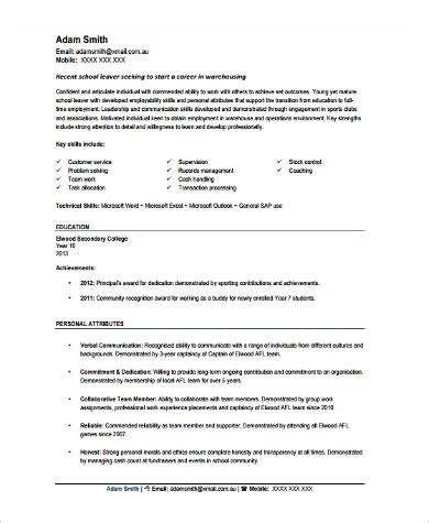 Sle Resumes For Warehouse Workers | resume sle for warehouse worker 28 images general