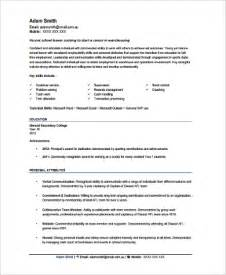 sle warehouse worker resume 9 exles in word pdf