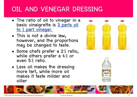 oil and vinegar salad dressing ratio