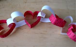Valentines day paper heart chain decoration youtube