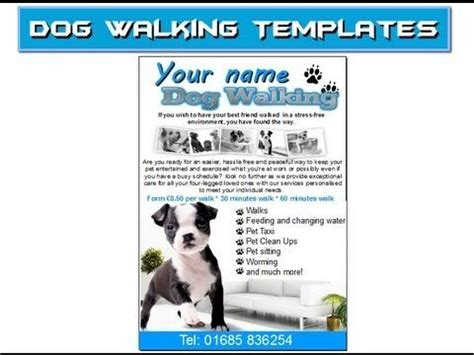 dog walking flyer leaflets templates mind my business