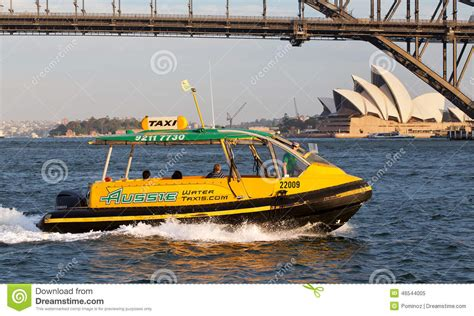 taxi boat sydney sydney water taxi editorial image image 46544005