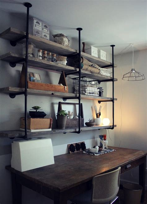 home shelves industrial pipe shelving essential tips to consider